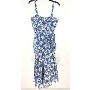 Veronica Beard Blue Floral Marena Dress